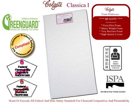 Colgate Classica I Foam Crib Mattress by Colgate Classica I Lightweight Foam Crib Mattress With