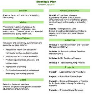 Strategic Planning Course Outline by Strategic Plan American Academy Of Ambulatory Care Nursing