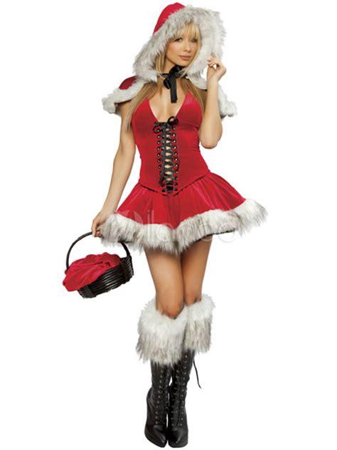 imagenes de santa claus mujer sexi costume da natale rosso sexy 3 pezzi con cappello bustino