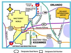 orlando florida area map map of orlando