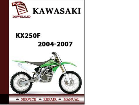 Kawasaki Kx250f 2004 2005 2006 2007 Workshop Service