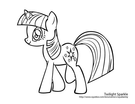My Little Pony Twilight Sparkle Coloring Pages Free My Pony Twilight Coloring Pages