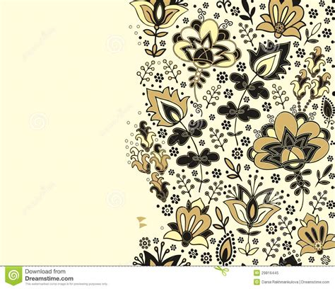 design undangan batik vector seamless floral border pattern rug pattern stock