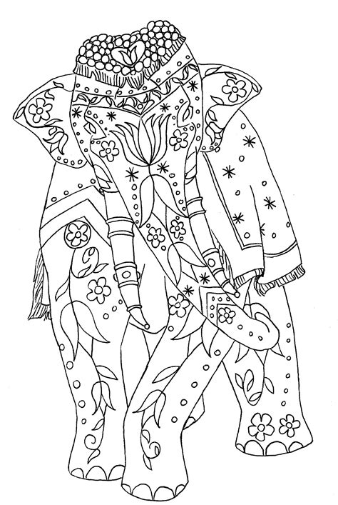 coloring pages for adults elephant painted elephant corvus tristis science craft and an