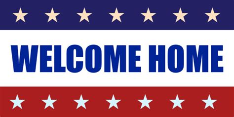 welcome home banners template