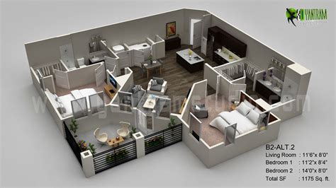 Floor Plan In 3d 3d Floor Plan Design Interactive 3d Floor Plan Yantram