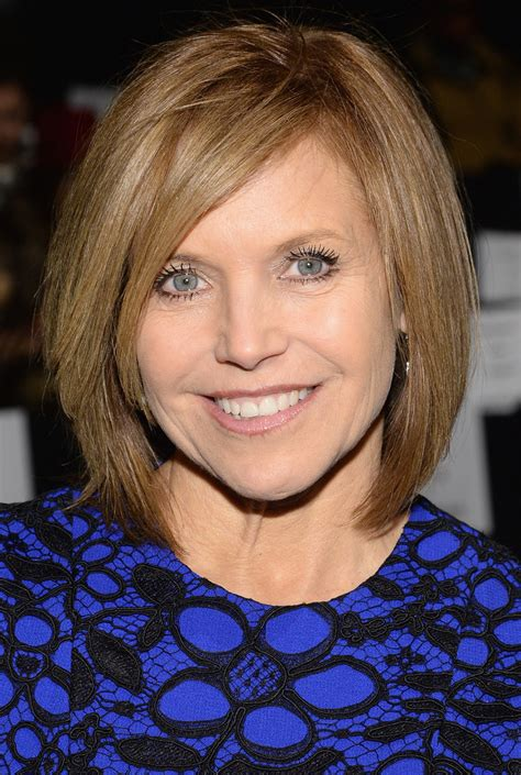 katie couric hairstyles 2014 katie couric in front row at the carmen marc valvo show