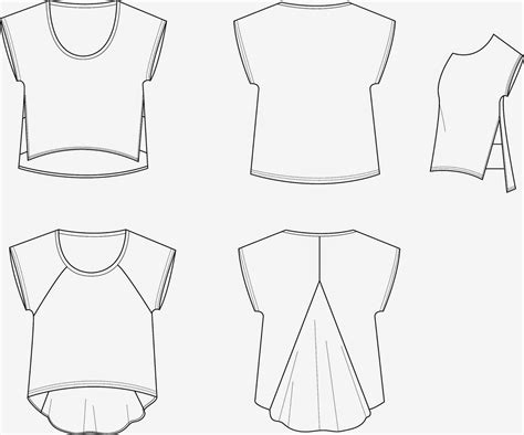 T Shirt Flat Sketches by T Shirt Www Sewingavenue Technical Drawing