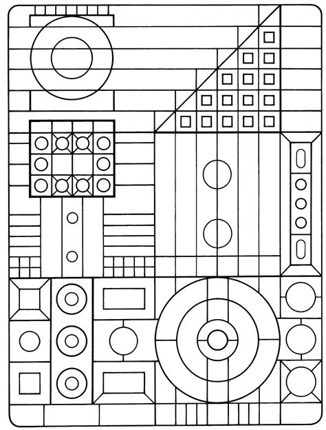 coloring pages geometric shapes 50 trippy coloring pages