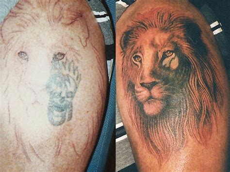 lion cover up tattoo large image leave comment