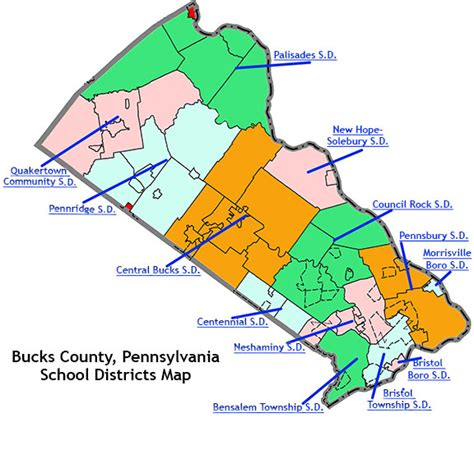 pennsylvania school district map map of bucks county pa world map 07