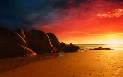 fire beach wallpapers hd wallpapers id