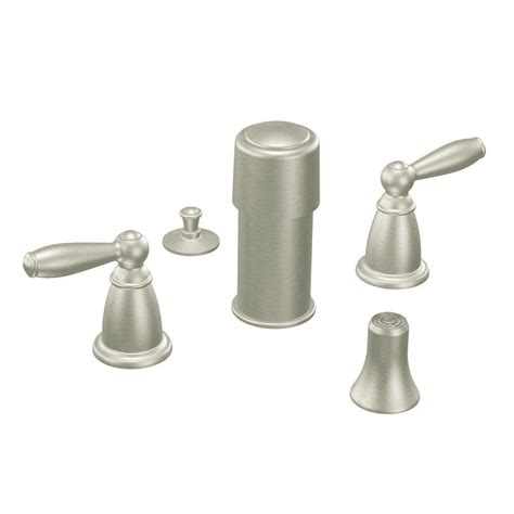 bidet valve moen brantford 2 handle bidet faucet in brushed nickel