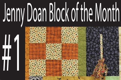 Quilting Company by Doan Block Of The Month Botm 1 Missouri