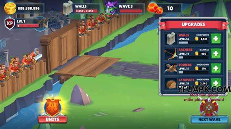 mod game cho android game of warriors mod v 224 ng money game ph 242 ng thủ hay cho