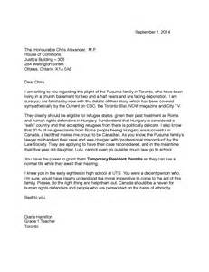 Immigration Support Letter For Immigration Letter Of Support For A Family Member Template