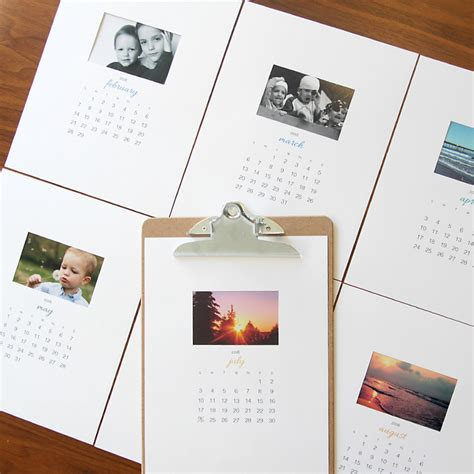 printable calendar gift free printable 2016 photo calendar great diy gift idea