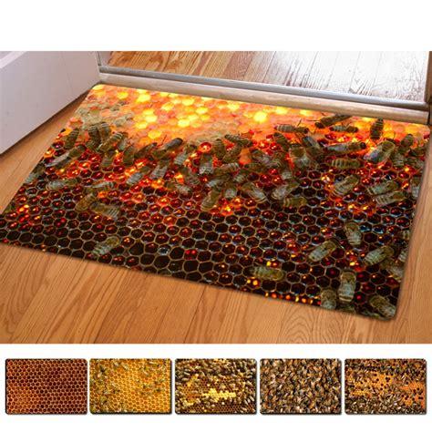 honeycomb  thin indoor mats rugs  home funny bathroom