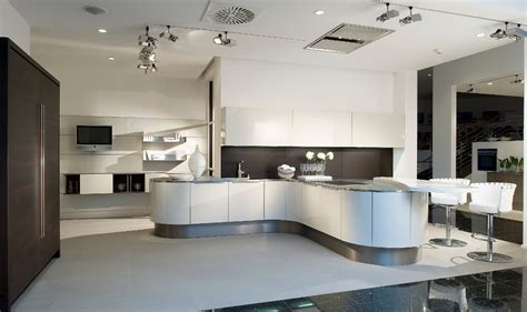 artistic white kitchen curved fronts interior decosee com