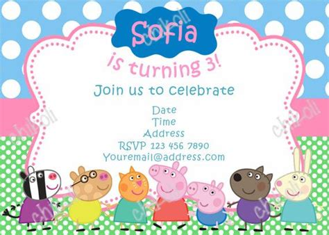 peppa pig invitations template 180 best images about peppa pig on birthday