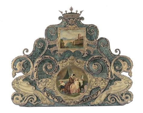 di letto testata di letto in ferro battuto dipinto e dorato napoli