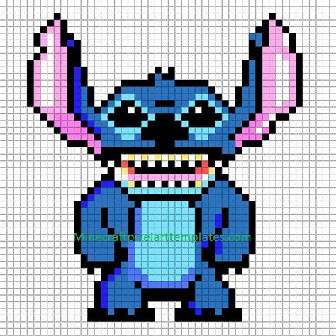 minecraft arts and crafts projects minecraft pixel templates stitch lilo and stitch