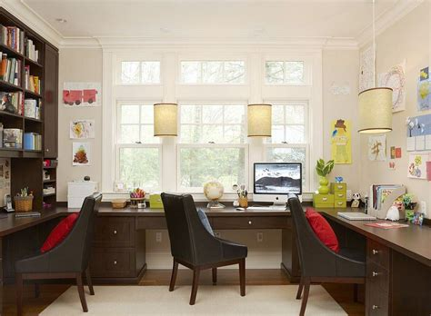 office for home simple small home office design with dark brown color oak