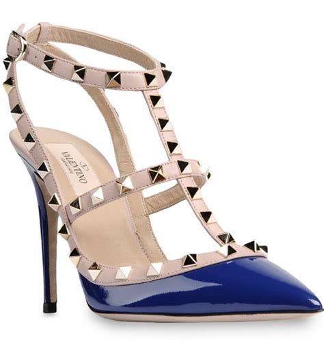 10 Best Valentino Shoes by Valentino Rockstud 100mm Fuchsia Pink Patent Leather T