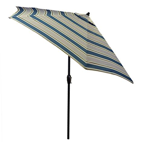 Plantation Patterns 9 Ft Aluminum Patio Umbrella In Striped Patio Umbrella 9 Ft