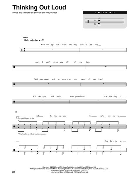 drum tutorial thinking out loud thinking out loud sheet music by ed sheeran drums