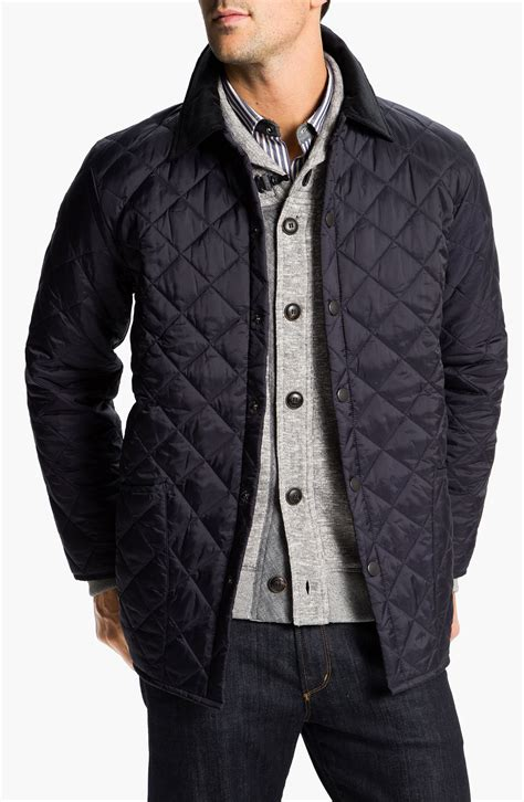 barbour liddesdale quilted jacket in blue for navy