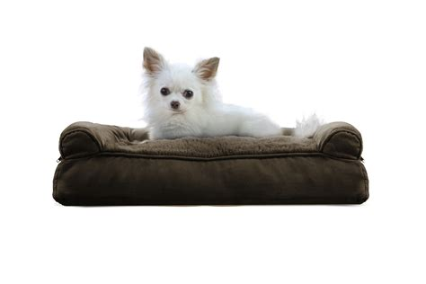 furhaven pet bed furhaven plush suede pillow sofa dog bed pet bed ebay