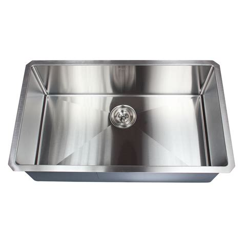 32 inch stainless steel undermount curved single bowl ariel 32 inch 16 gauge undermount single bowl stainless