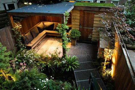 Landscape Lighting Questions Small City Garden Contemporary Patio Amsterdam By