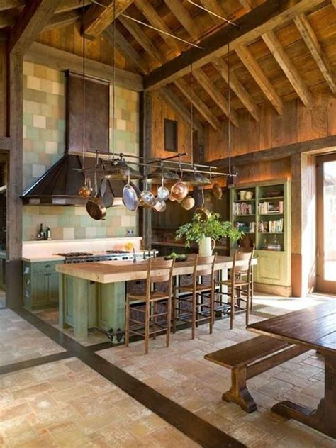 wood ceiling  rock wall  cozy house designs
