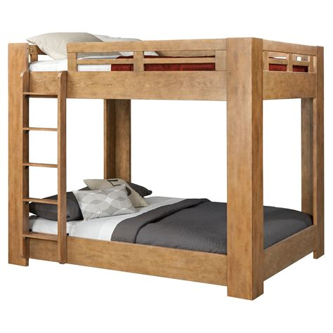 bunk bed lofts american woodcrafters natural elements full over full bunk