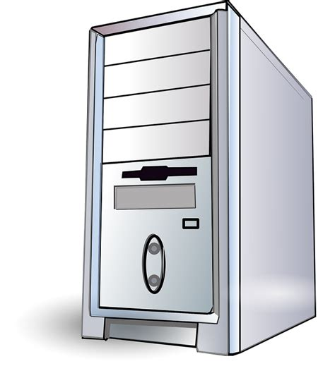 clipart pc free vector graphic server pc workstation computer