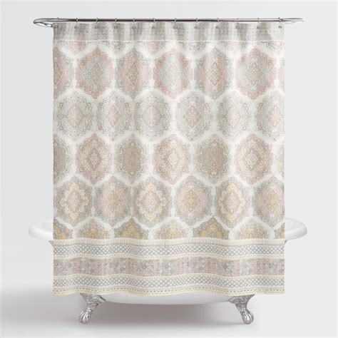 blush shower curtain pink blush medallion sintra shower curtain world market
