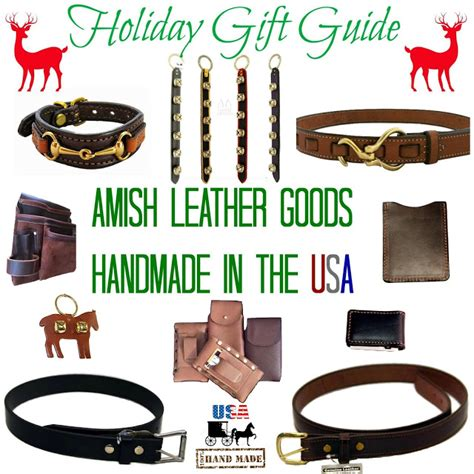 Handcrafted In The Usa - saving shepherd 2016 amish leather gift guide