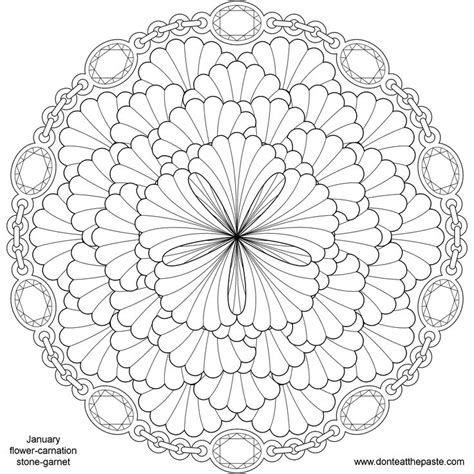 flower mandala coloring pages printable flower mandalas to print images
