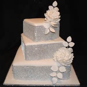 rhinestone cake silver rhinestone ribbon wrap modwedding
