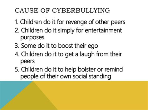 Bullying Causes by Cyberbullying