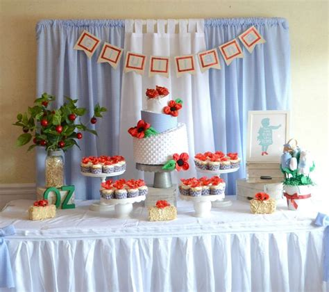 Richies Oz Themed Baby Shower by Wizard Of Oz Baby Shower Ideas Dessert Table Baby