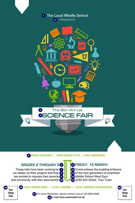 science fair poster ticket printing