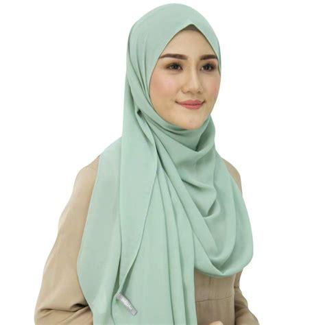 Sale Pasmina Instan Oshi najjah instant shawl chiffon lakumall