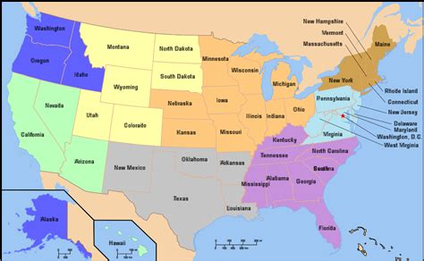 map usa by region 5 regions of usa map