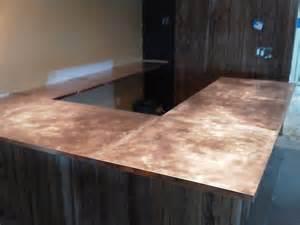 nj custom copper bar tops hammered copper