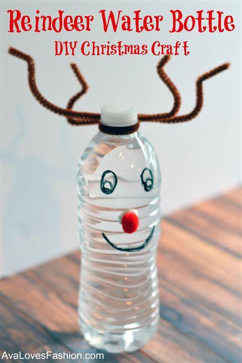 reindeer water bottle easy diy craft
