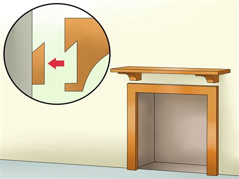 a fireplace mantel how to install a fireplace mantel 14 steps with pictures