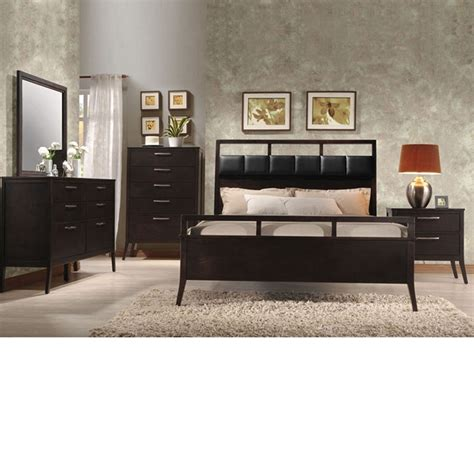 Wenge Furniture Bedroom Dreamfurniture Boardwalk Wenge Pu Finish Bedroom Set